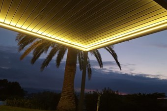 Pergola bioclimatique led